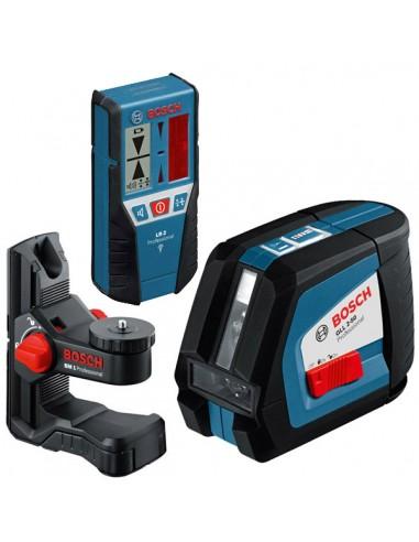 Построитель плоскостей Bosch GLL 2-50 + приемник лазера + держатель , 0601063103