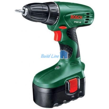 Шурупокрут Bosch PSR 18 (1 акк.) акумуляторний , 0603955320