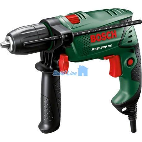 Дрель Bosch PSB 500 RE ударная , 0603127020