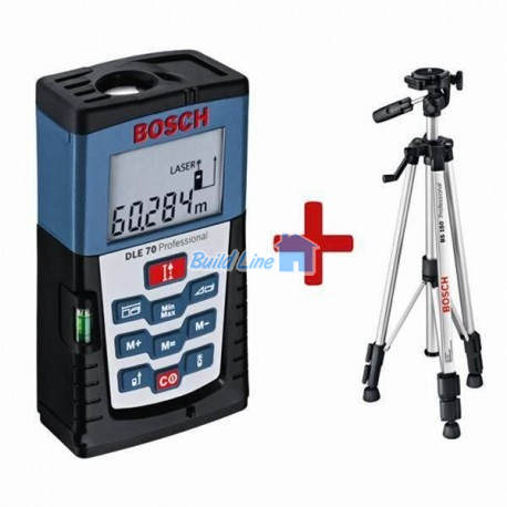 Лазерный дальномер Bosch DLE 70 + штатив BS-150 , 0601016620