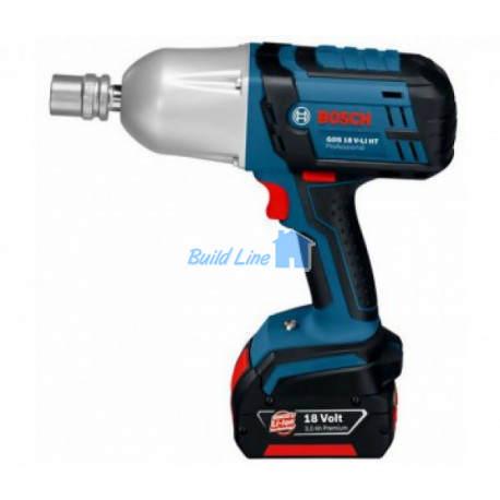 Гайковерт Bosch GDS 18 V-LI HT аккумуляторный ударный , 06019B1301