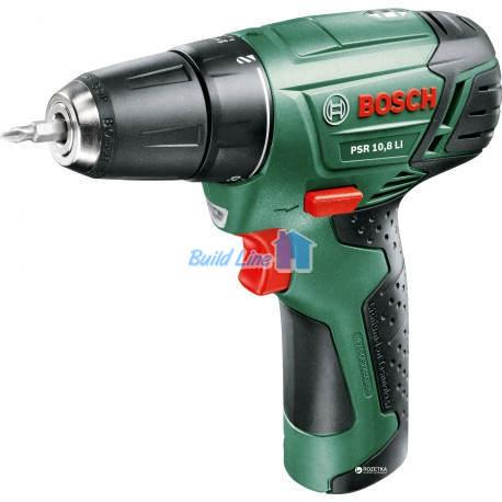 Шуруповерт Bosch PSR 10,8 Li аккумуляторный , 0603954220