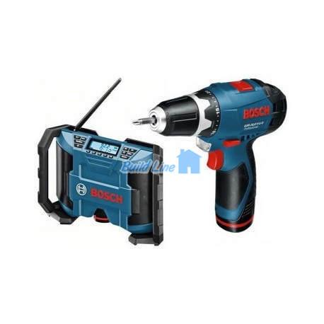 Радио Bosch GML 10,8 V-LI + GSR 10,8-2-LI , 0601429201