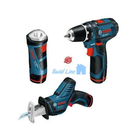 Bosch АКЦ. GSR 10,8-2-LI + GSA+ GLI , 0615990CW0