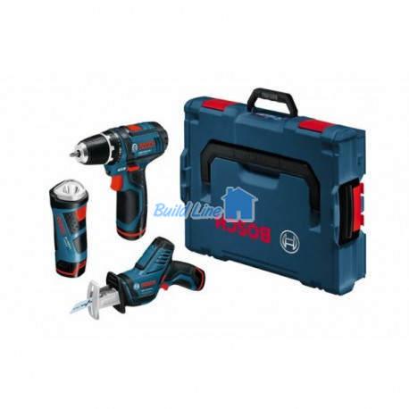 Bosch Набор 3в1 GSR10,8-2-LI+GDR-LI+GLI , 0615990CL0