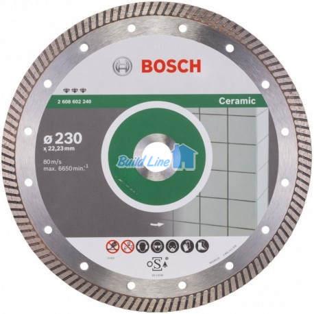 Круг алмазный 230 x 22,23 мм Bosch Best for Ceramic , 2608602240