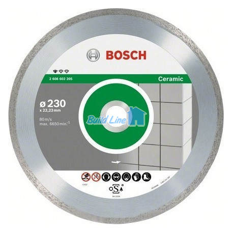 Круг алмазный 180 x 22,23 мм Bosch Professional for Ceramic , 2608602204