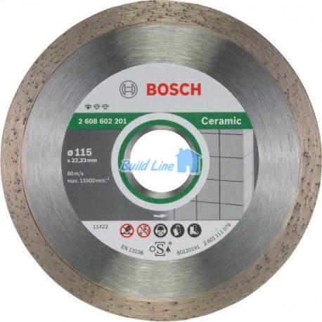 Круг алмазный 115 x 22,23 мм Bosch Professional for Ceramic , 2608602201