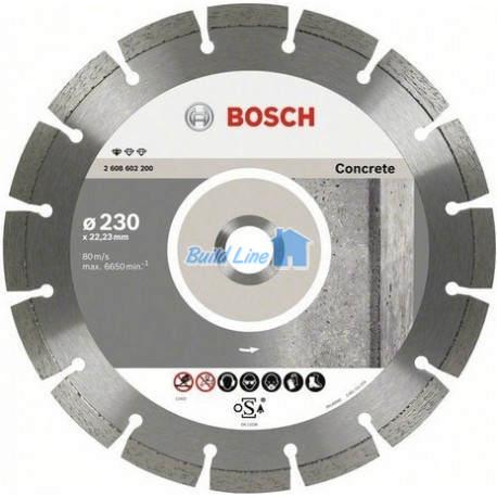 Круг алмазный 180 x 22,23 мм Bosch Standart for Concrete , 2608602199