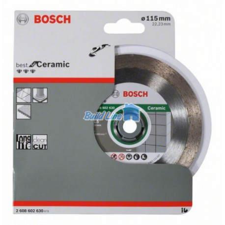 Круг алмазный 115 x 22,23 мм Bosch Best for Ceramic , 2608602630