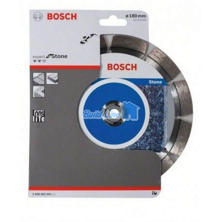 Круг алмазный 180 x 22,23 мм Bosch Expert for Stone , 2608602591
