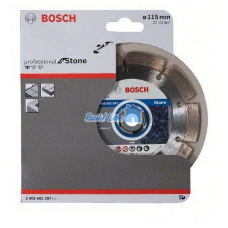Круг алмазный 115 x 22,23 мм Bosch Professional for Stone , 2608602597