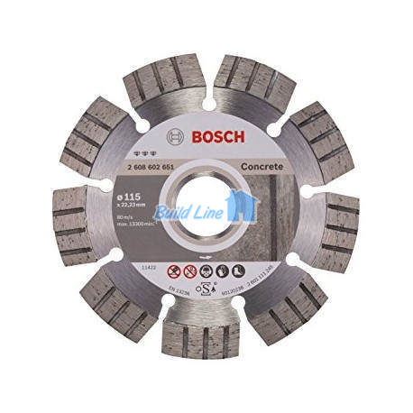 Круг алмазный 115 x 22,23 мм Bosch Best for Concrete , 2608602651