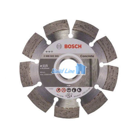 Круг алмазный 115 x 22,23 мм Bosch Expert for Concrete , 2608602555