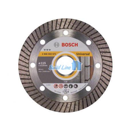 Круг алмазный 115 x 22,23 мм Bosch Best for Universal , 2608602671