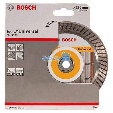 Круг алмазный 125 x 22,23 мм Bosch Best for Universal , 2608602672