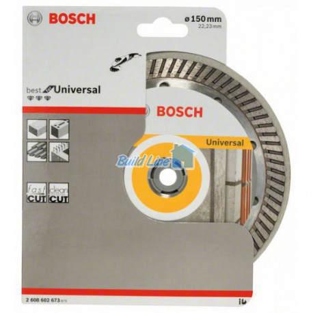 Круг алмазный 150 x 22,23 мм Bosch Best for Universal , 2608602673