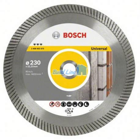 Круг алмазный 230 x 22,23 мм Bosch Best for Universal , 2608602675