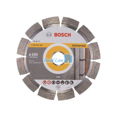Круг алмазный 150 x 22,23 мм Bosch Expert for Universal , 2608602566