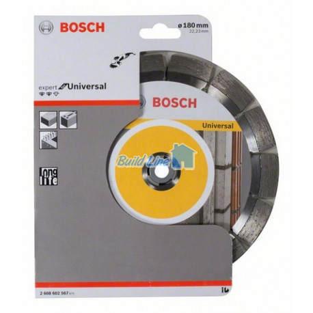 Круг алмазный 180 x 22,23 мм Bosch Expert for Universal , 2608602567
