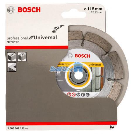 Круг алмазный 115 x 22,23 мм Bosch Professional for Universal , 2608602191