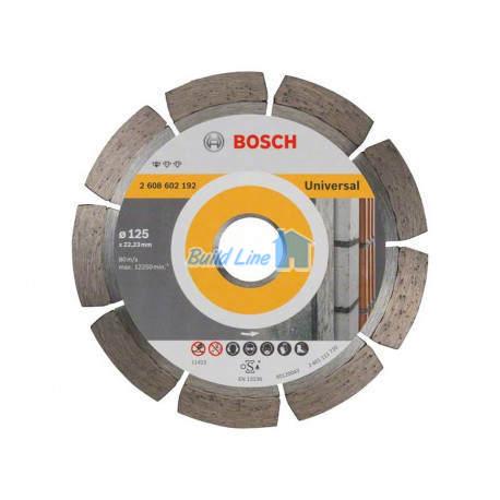 Круг алмазный 125 x 22,23 мм Bosch Professional for Universal , 2608602192