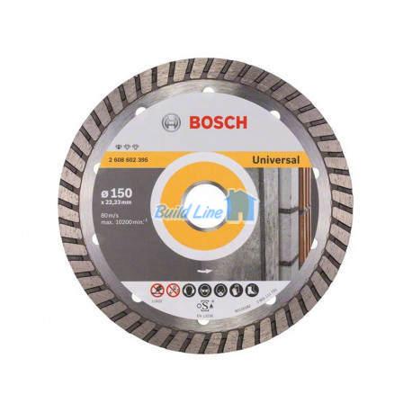 Круг алмазный 150 x 22,23 мм Bosch Professional for Universal , 2608602395