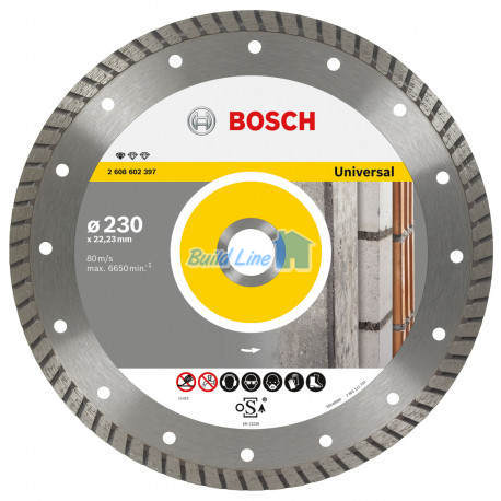 Круг алмазный 230 x 22,23 мм Bosch Professional for Universal , 2608602397