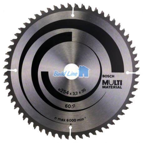 Multi Material для ручных циркулярных пил 254x30мм, 2608640449, Bosch