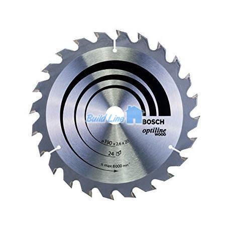 Optiline Wood для ручных циркулярных пил 190x20мм, 2608640612, Bosch