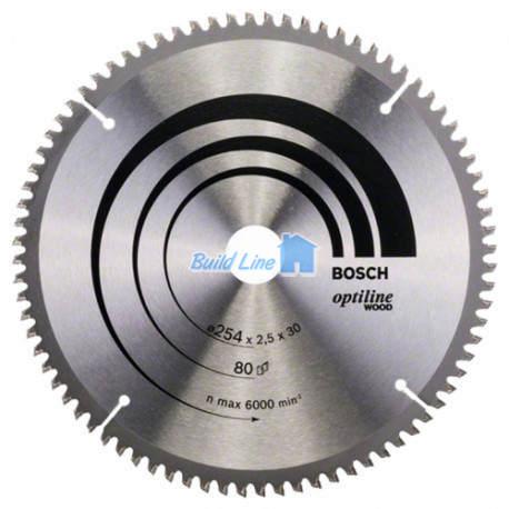 Пильный диск 254 x 30 мм 80 зубъев , Bosch 2608640437