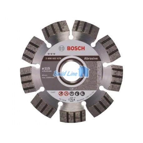 Круг алмазный 115 x 22,23 мм Bosch Best for Abrasive , 2608602679