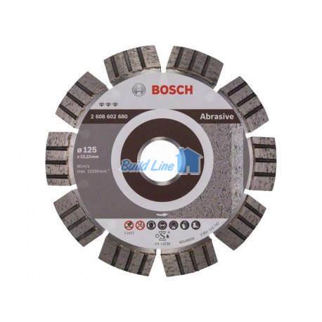 Диск алмазний 125 x 22,23 мм Bosch Best for Abrasive , 2608602680