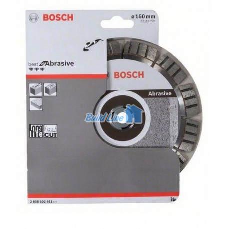Диск алмазний 150 x 22,23 мм Bosch Best for Abrasive , 2608602681