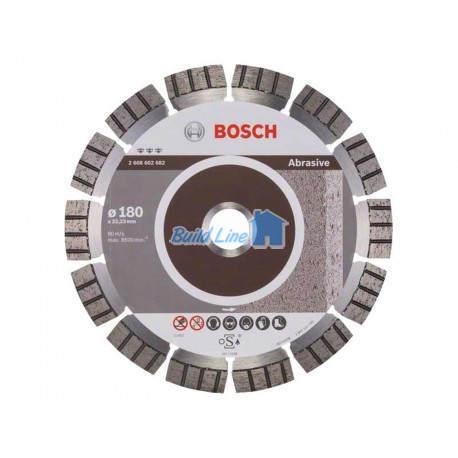 Диск алмазний 180 x 22,23 мм Bosch Best for Abrasive , 2608602682