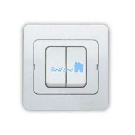 Выключатель двухклавишный белый Yavuz Gunsan YV 21 11 03